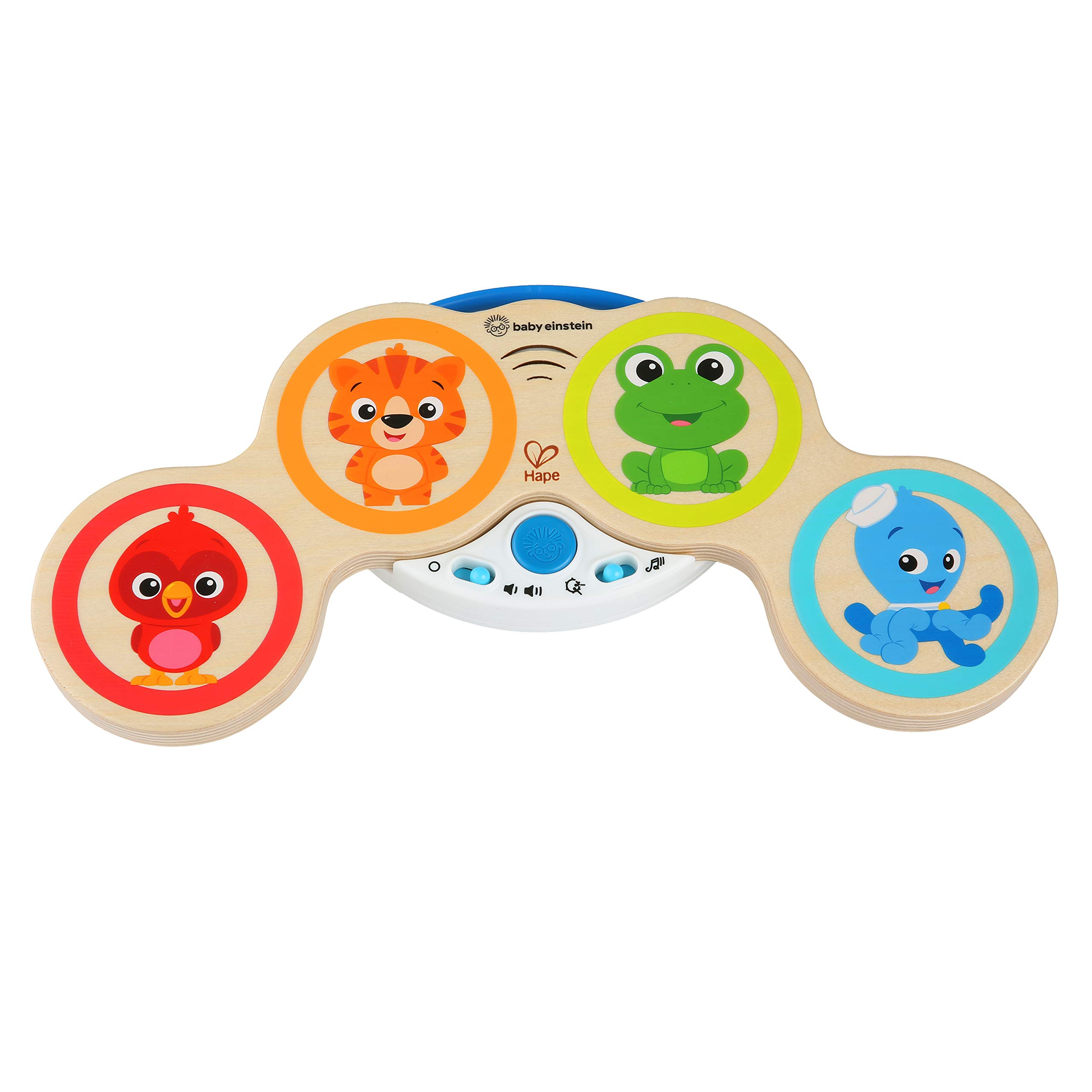 Baby Einstein Magic Touch Drums Wooden Drum Musical Toy, Ages 6 months and up by Baby Einstein