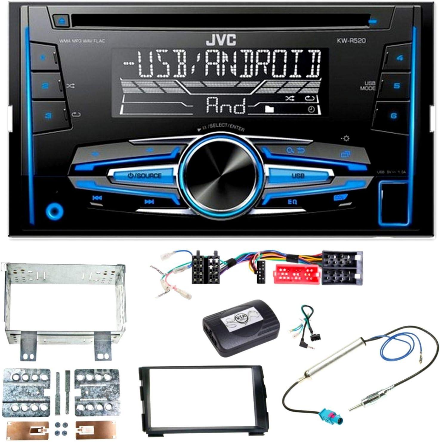 Jvc Kw R520 Cd Usb Aux Mp3 Autoradio Einbauset Für Kia Elektronik
