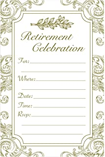 amazon com retirement party invitation cards with envelopes 25