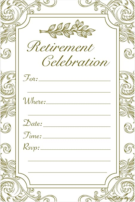 amazon com retirement party invitations fill in style 20 count