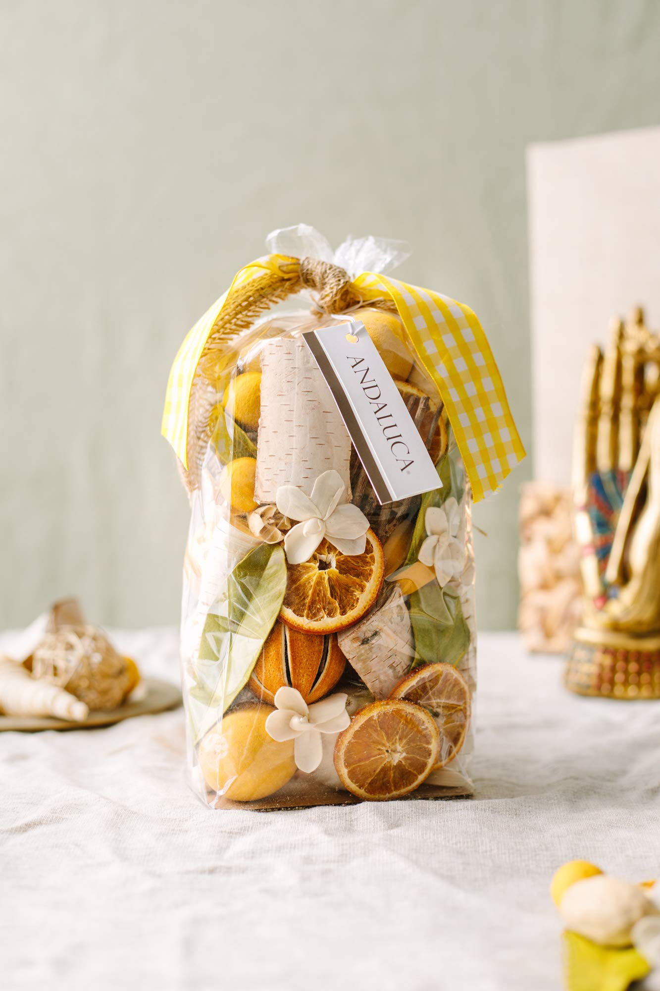 Andaluca Lemon Zest & Thyme Scented Potpourri | Made in California | Large 20 oz Bag + Fragrance Vial by Andaluca (Image #3)