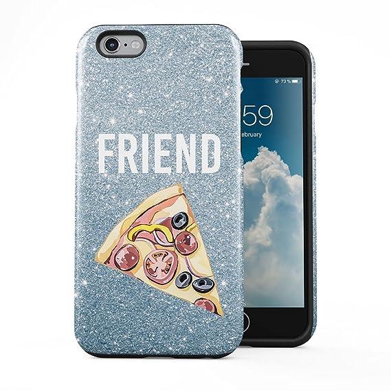 the latest 51d60 dcbde Amazon.com: Pizza Food Friend Best Friends Girlfriend Matching Case ...