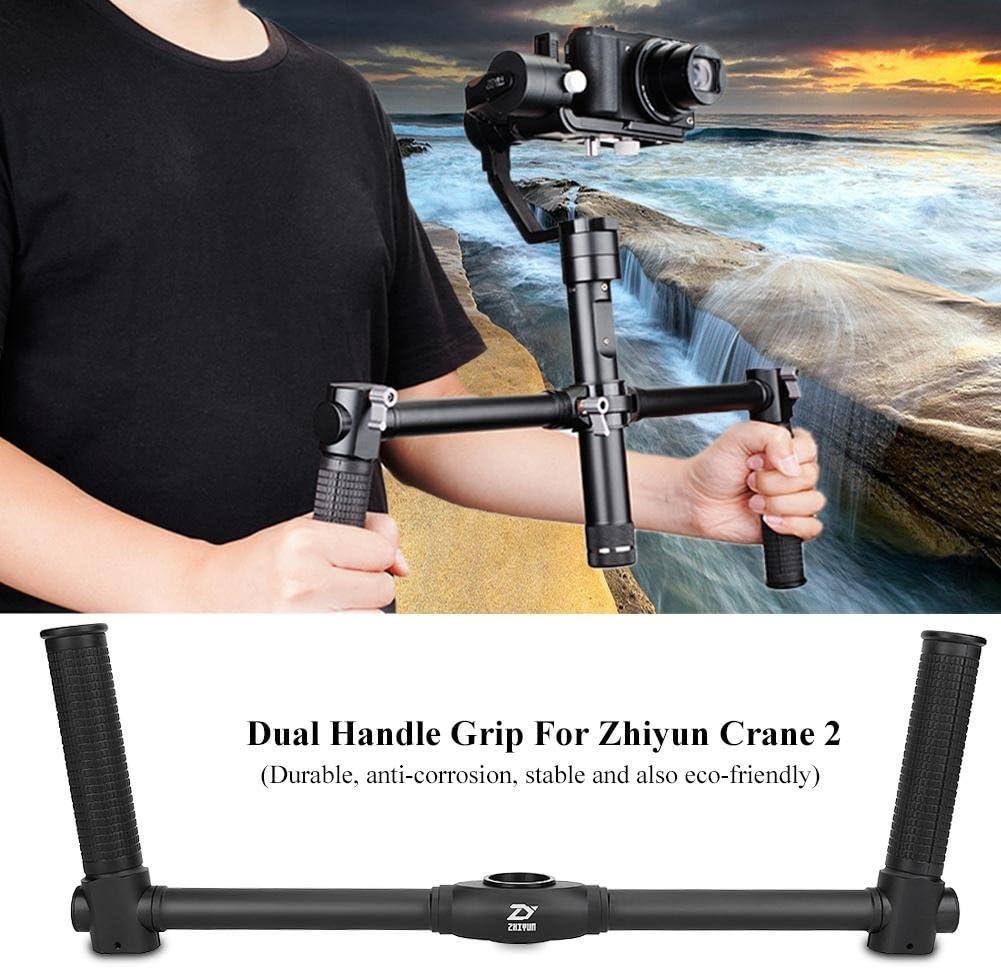 Dual Grip Handle,Aluminum Alloy Camera Handle Grip Handheld Stabilizer for Zhiyun Crane 2