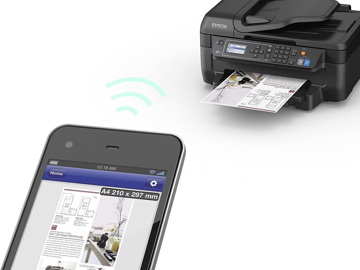 Epson WorkForce WF-2650WF PrecisionCore Colour All-in-One Printer with Wi-Fi Print//Scan//Copy//Fax