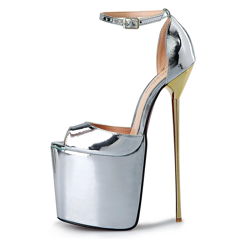ed310dea547ea Leeminus Leeminus Leeminus Womens Faux Leather Peep Toe Platform ...