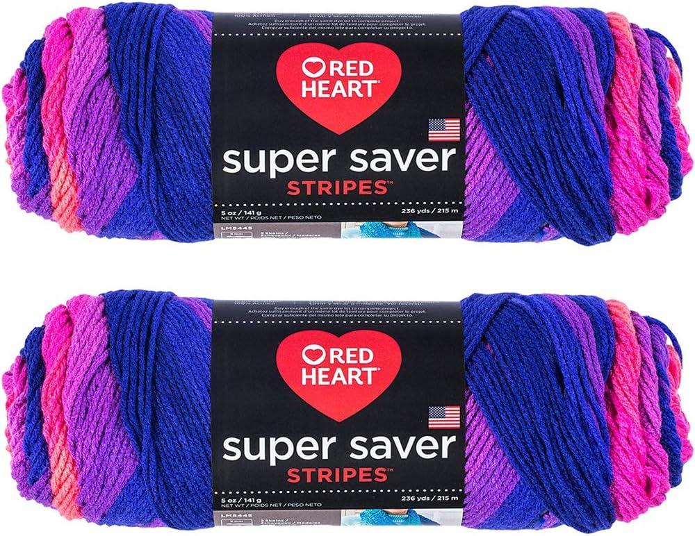Bulk Buy: Red Heart Super Saver (2-Pack) (Flamenco, 5 oz Each Skein)