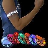 Pet Leso® LED Sports Armband Blinkendes Sicherheits-Licht Für Laufen, Radfahren Oder Nacht Gehen, Zebra Stripes