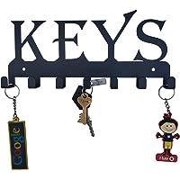 HeavenlyKraft Keys Black Metal Wall Mounted Key Holder 25 X 12 X 2.5 cm