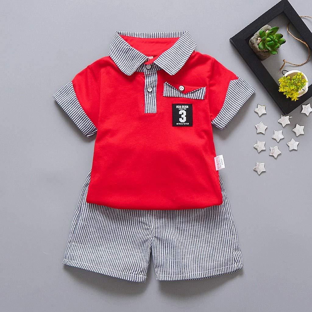 Streifen Shorts Outfits Kleidung Set JUTOO 2 St/ücke Set Kleinkind Baby Jungen Gentleman T-Shirt Tops