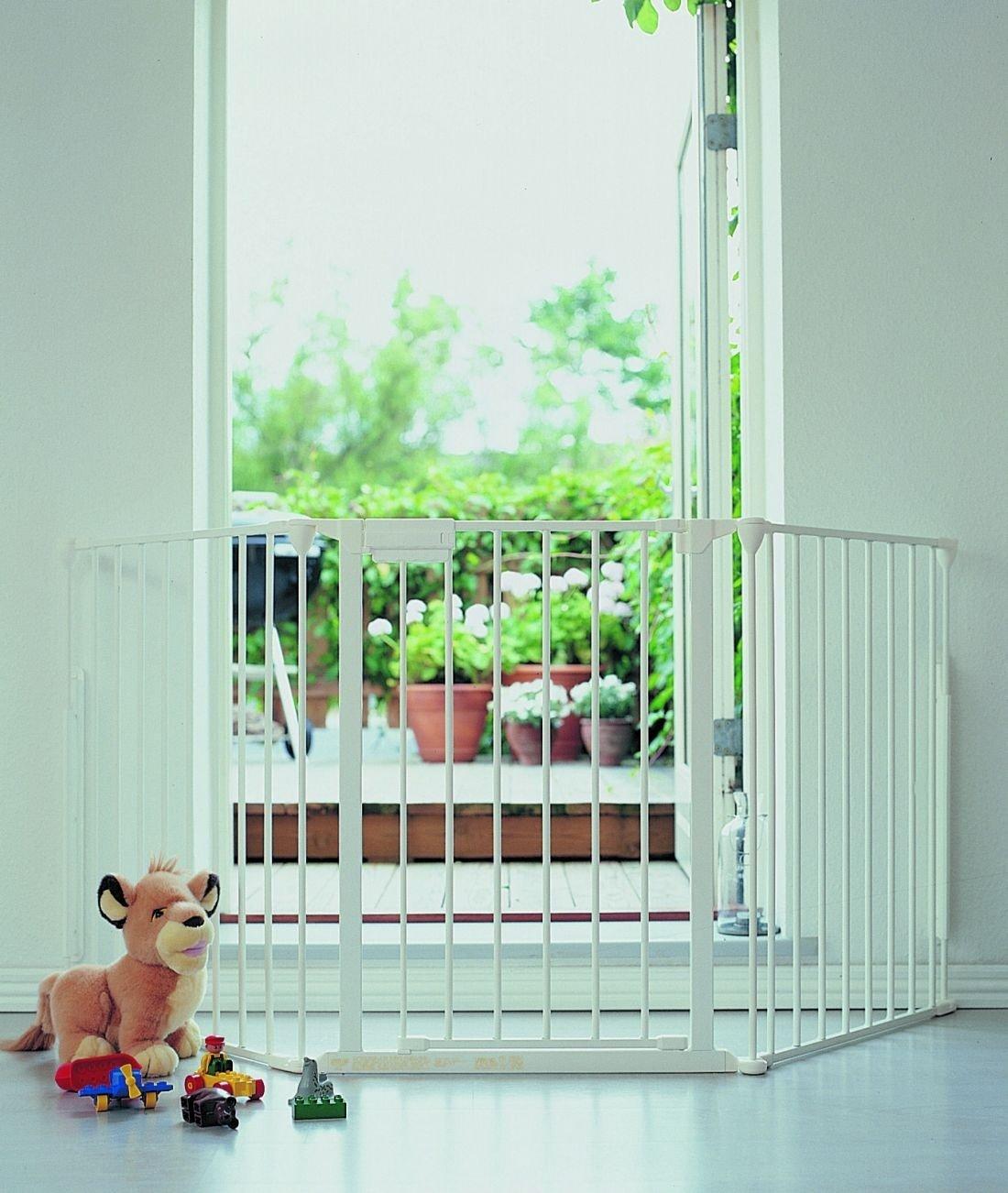 BabyDan Absperrgitter Flex 3 weiss 90-180 cm