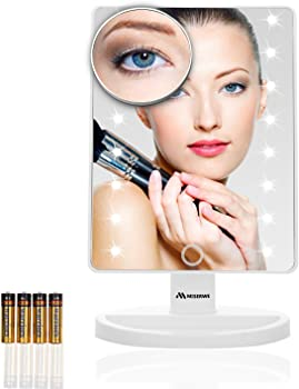 Miserwe 16-LED Lighted Makeup Vanity Mirror w/Touch Screen