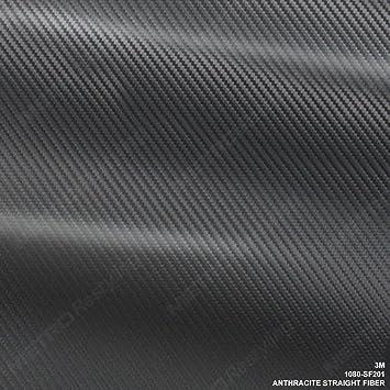 3M 1080 Series ANTHRACITE STRAIGHT FIBER Vinyl Vehicle Car Wrap Film Roll SF201