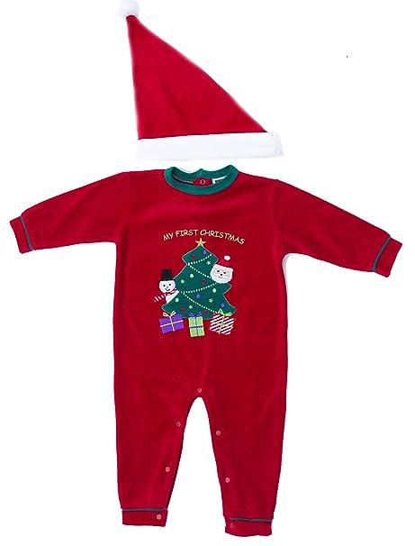 Amazon.com: Just Love - Pijama y gorro de navidad para bebé ...