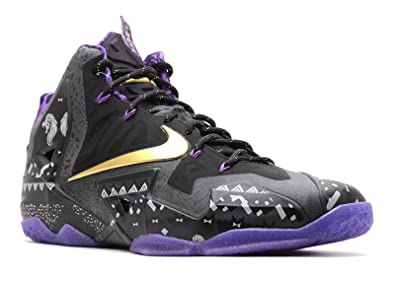 100% authentic d1053 109e9 Nike Men s LeBron XI BHM, BHM-ANTHRACITE METALLIC GOLD-PURPLE VENOM,