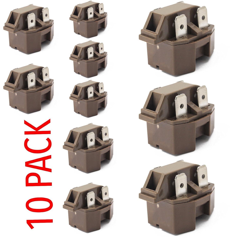IC-4 Universal Freezer Refrigerator compressor PTC Start relay 10 pack KLIXON