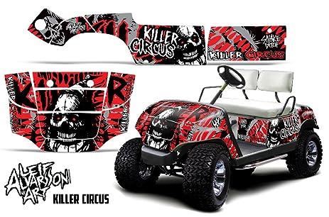 Savage kits vinyl graphic decal kit for yamaha golf cart 1995 2006 killer circus