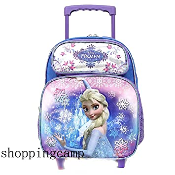Amazon.com: Disney Frozen Elsa Anna Toddler Small Rolling Backpack ...