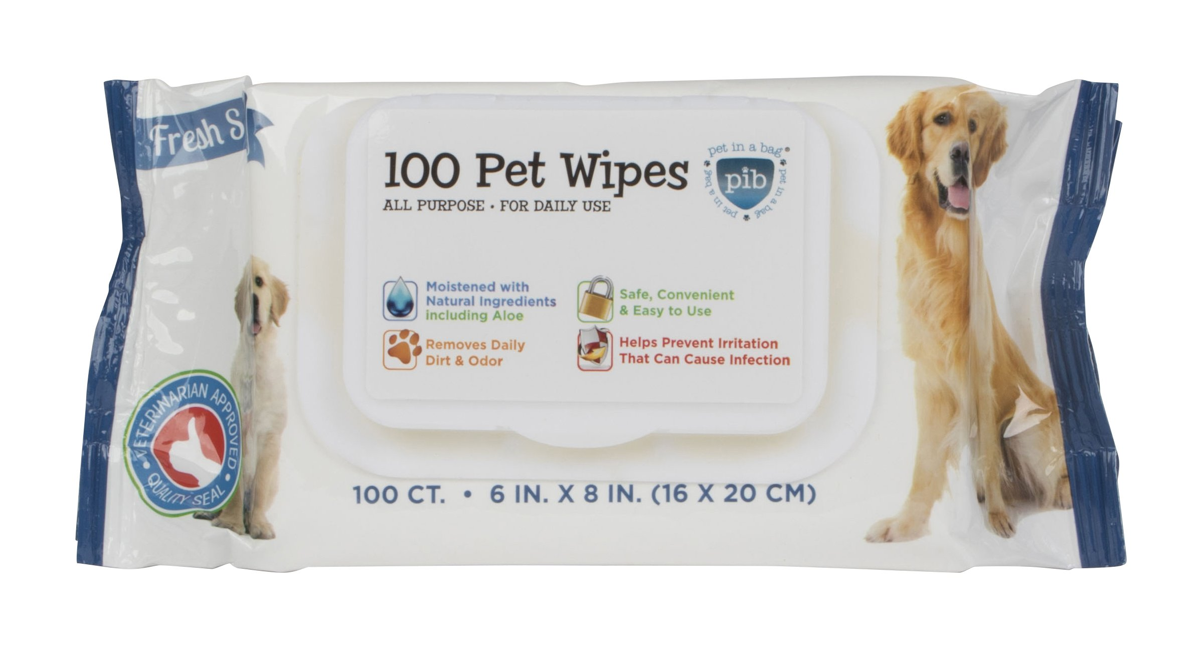 Pet in a Bag 100 Count All Purpose Wipes