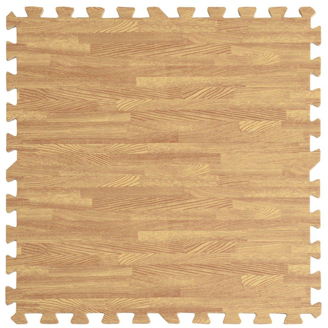 タンスのゲン 6畳用 32枚組 木目調ジョイントマット