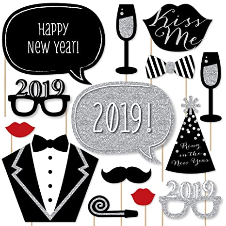 big dot of happiness new years eve party silver 2019 new year party photo