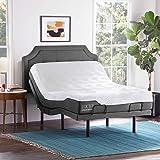 LUCID L300 Adjustable Bed Basewith Lucid 10 Inch Memory Foam Hybrid Mattress-Full