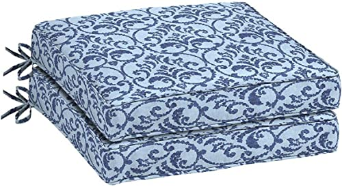Comfort Classics Inc. Set of 2 Outdoor Seat Cushions Box Edge 20″ x 20″ x 4.75″
