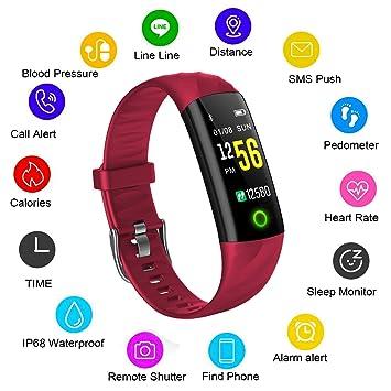 LIGE Montre Connectée Tracker activité,Moniteur de fréquence Cardiaque Pédomètre Bracelet Intelligent,Surveillance du