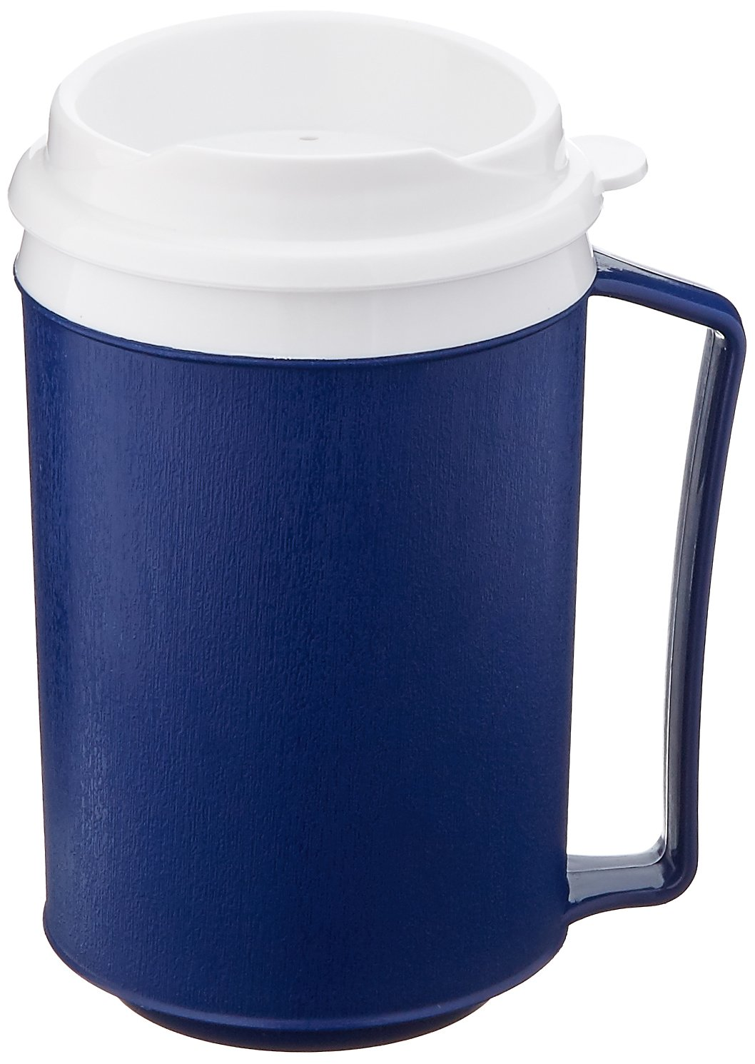 Sammons Preston Insulated Mug with Tumbler Lid, Durable Container for Hot and Cold Liquid Beverages, Tea, Smoothies, 12 oz Blue Travel Coffee Cup with Lid for Elderly, Disabled, Handicapped, Weak Grip