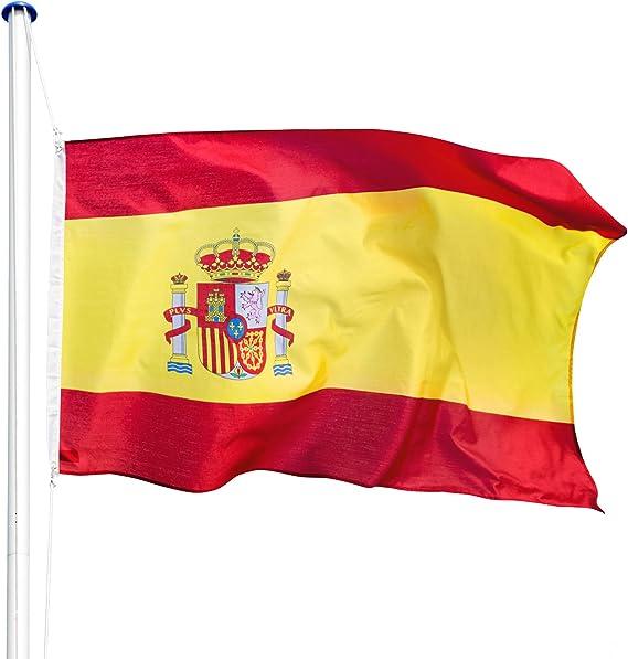 TecTake Mástil para bandera 6,25 m con bandera y cuerda palo asta aluminio - varios modelos - (España | no. 402848): Amazon.es: Hogar