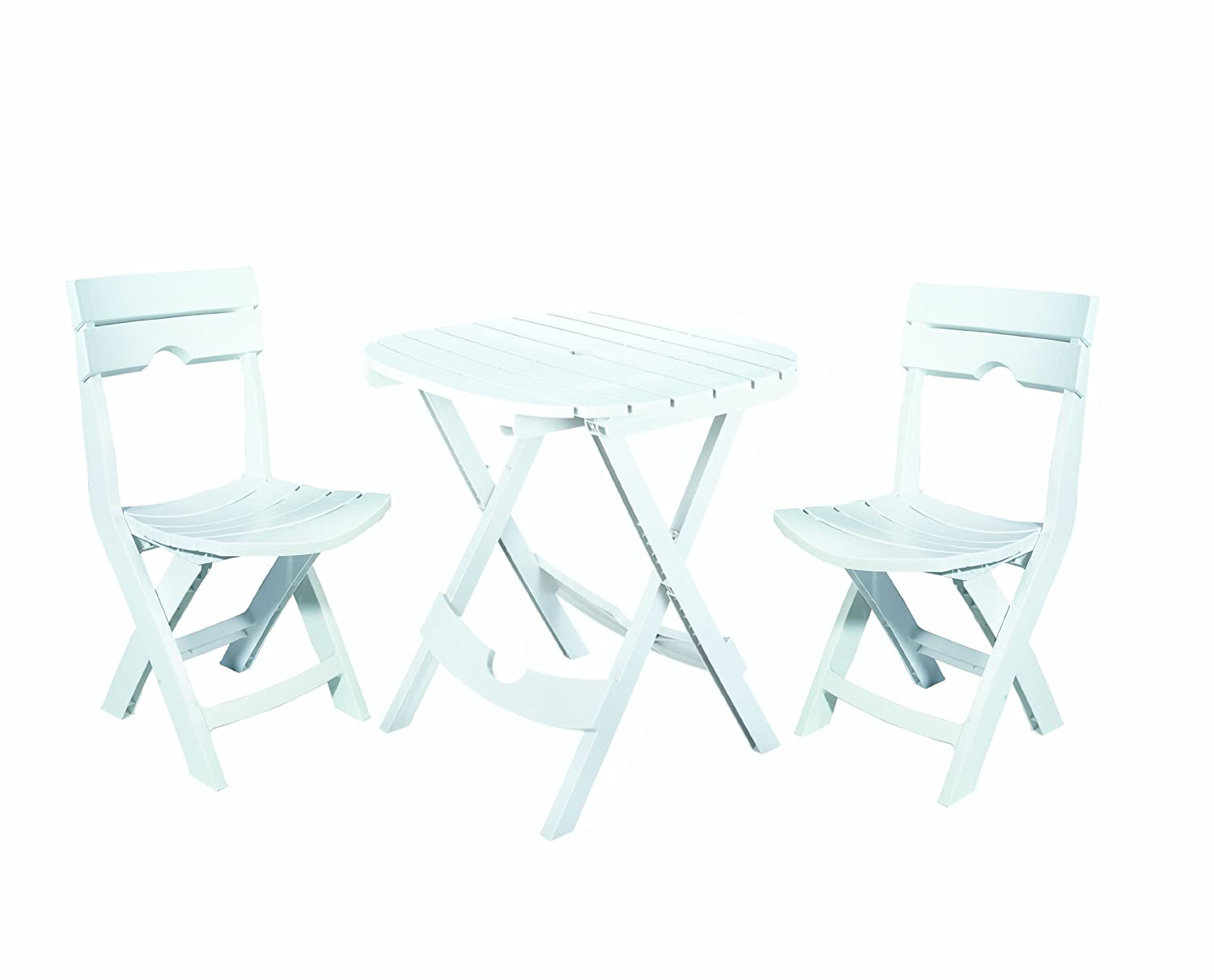 Adams Manufacturing 8590-48-3731 Quik-Fold Cafe Bistro Set, White