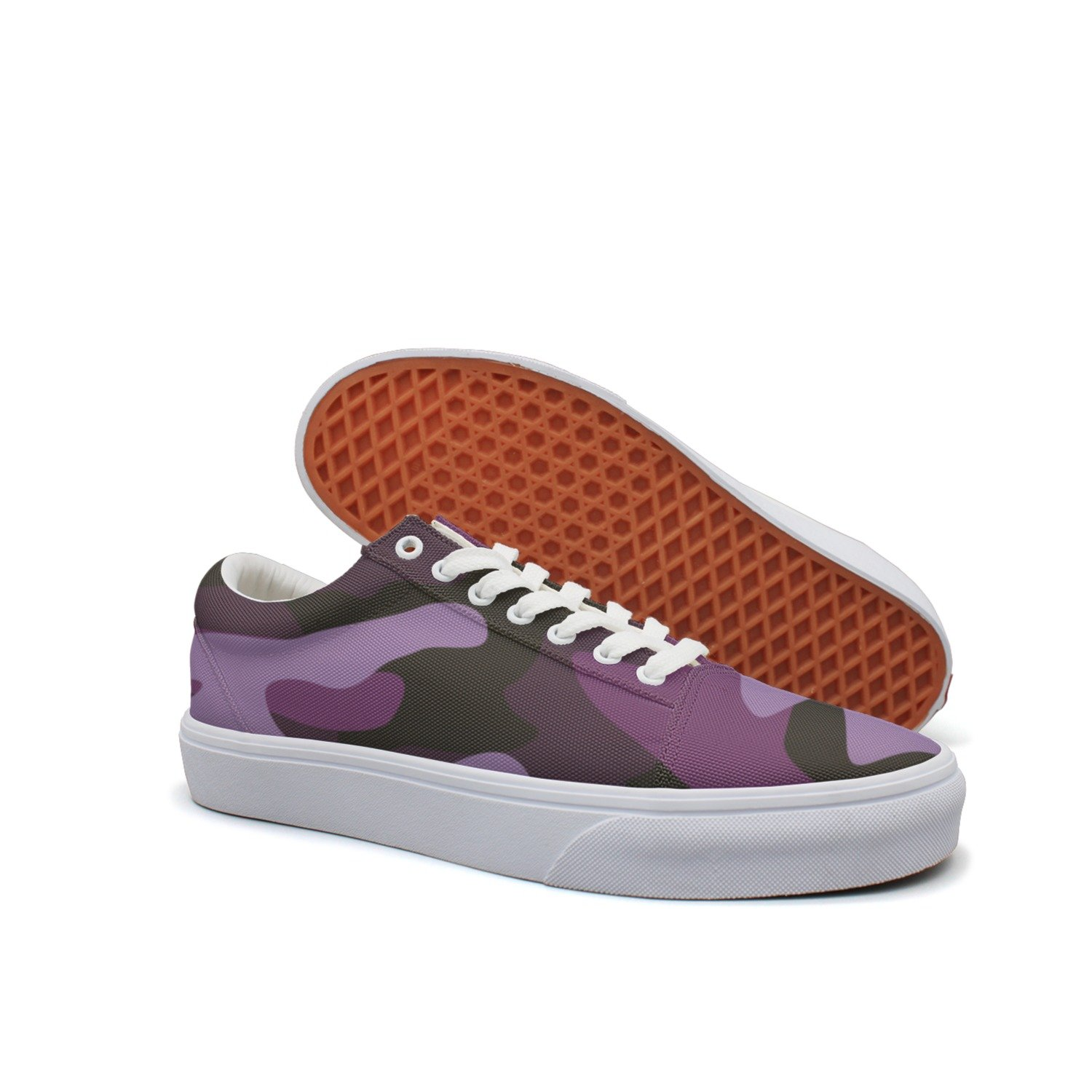 f51443696e047 Amazon.com: VCERTHDF Print Trendy Classic Camouflage Camo Purple Low Top  Canvas Sneakers: Sports & Outdoors