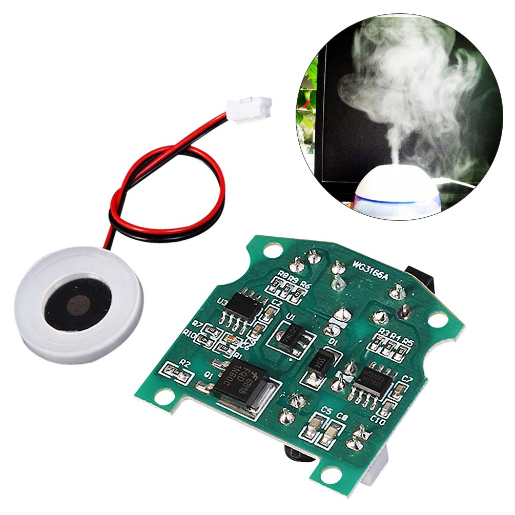 Whdts 20mm 113khz Ultrasonic Mist Atomizer Maker Circuit Board Buy Printed Makerpcb Transducer Ceramic Desk Usb Humidifier With Pcb 37 12v Home Kitchen