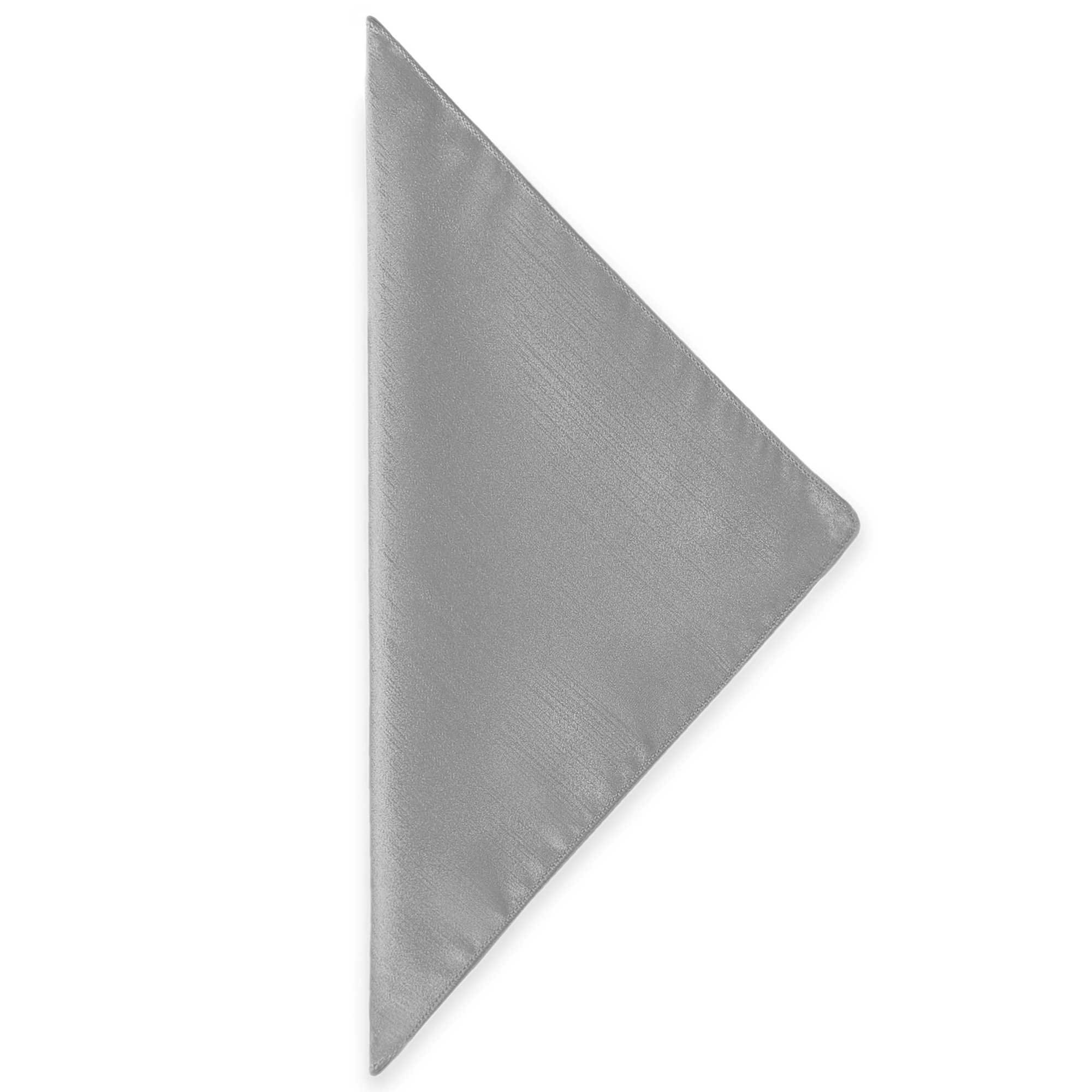 Ultimate Textile (46 Dozen) Reversible Shantung Satin - Majestic 20 x 20-Inch Cloth Dinner Napkins - for Weddings, Home Parties and Special Event use, Silver by Ultimate Textile