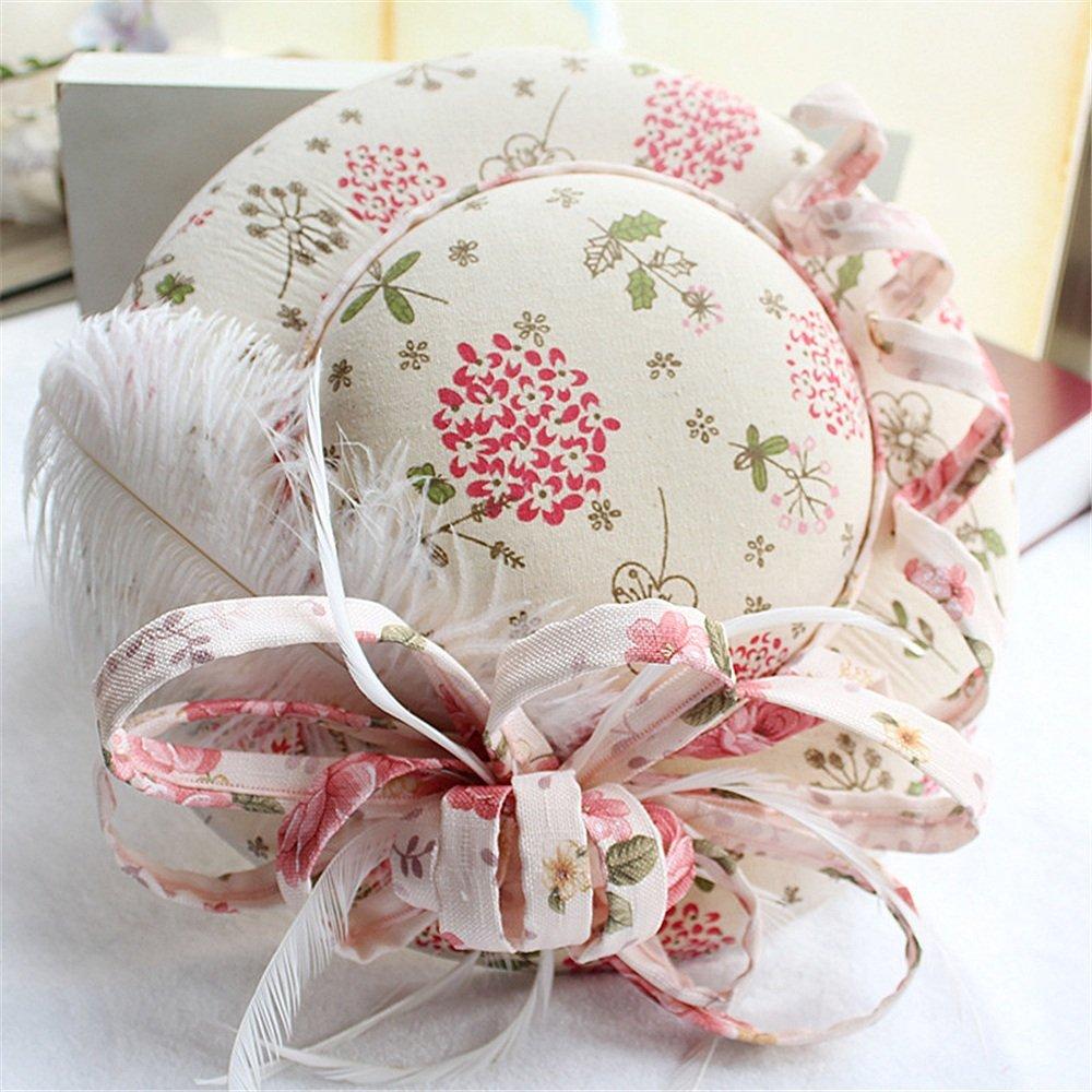 Ying xinguang El Sombrero de Novia Novia de y la Pluma Imagen de Escenario de Rollo Hecho a Mano de Rollo del Vestido de Novia 092dbd