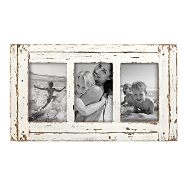 Foreside Home & Garden FFRD06198 4X6 Three Photo Heartland Frame White