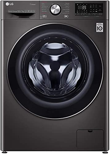 LG 10.5 Kg / 7.0 Kg Inverter Wi Fi Washer Dryer  FHD1057STB, Black VCM, In built Heater, Turbo Wash  Washing Machines   Dryers