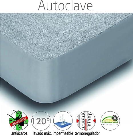 Mila Rosa Autoclave Protector Colchón, Composicion: Rizo 80% Algodón 20% Poliester 95 Gr/M2-Base: 100% PVC 200Gr/M2 Induccion, Blanco, 60 X 120 Cm: Amazon.es: Hogar