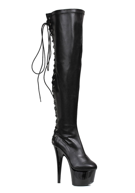 Ellie Shoes Women's 609-Fare Engineer Boot B07BR18J3H 12 B(M) US|Black Pu
