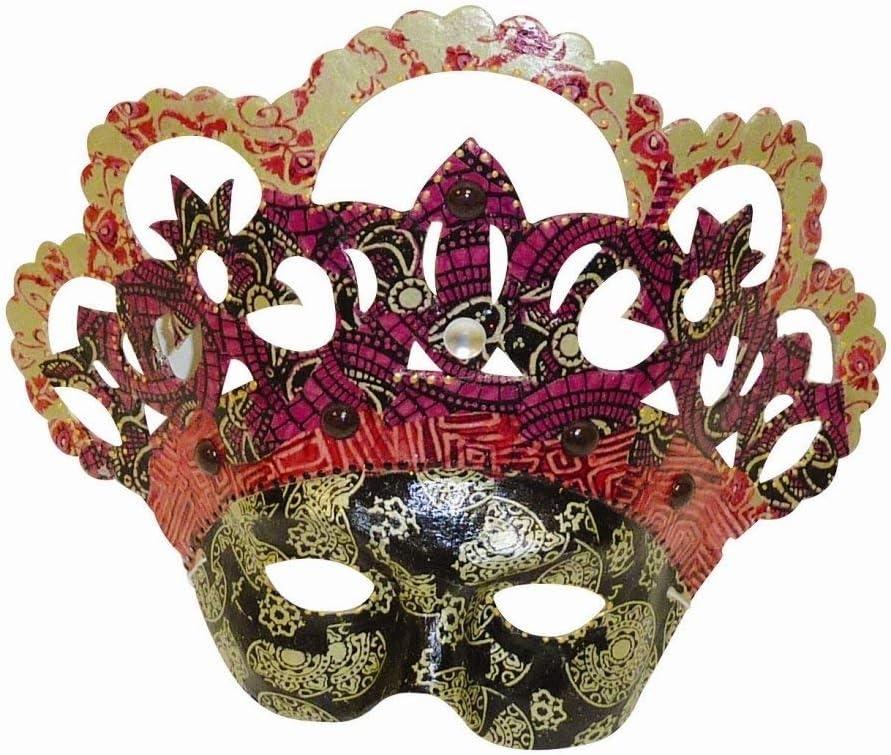 17x11x24 cm Brown D/écopatch Mache Face Mask