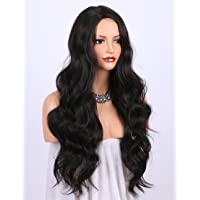 K'ryssma Natural Looking #2 Long Wavy Synthetic Wigs For Women,Glueless Machine Made Dark Brown Hair Wig For Christmas Heat Resistant 24 Inch