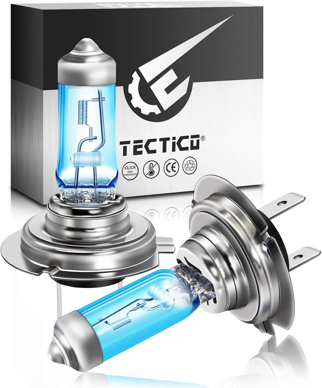TECTICO HS1 Bombilla hal/ógena para faro delantero 35W 5000K Blanco c/álido 12V Haz bajo//reemplazo para luz nocturna para autom/óvil 2 piezas