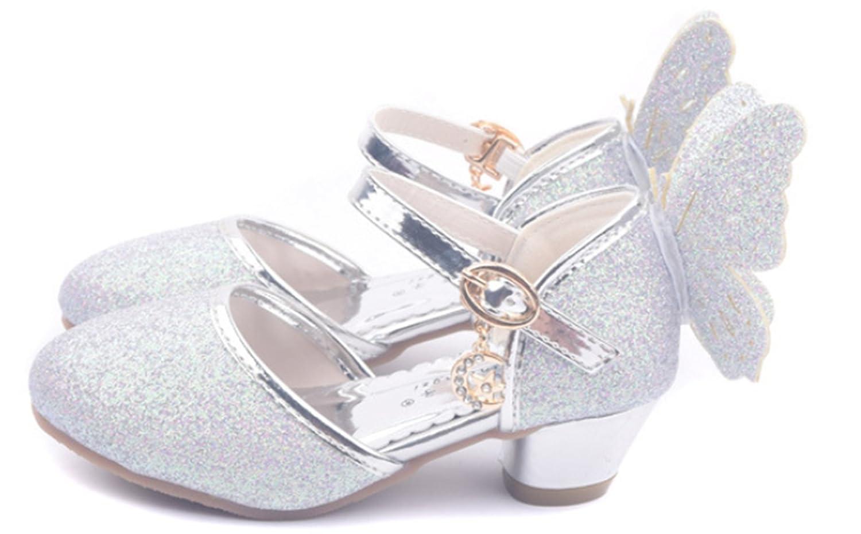 481c694c72 YOGLY Niñas Zapatos de Tacón Princesa Fiesta Sandalias para Niñas ...