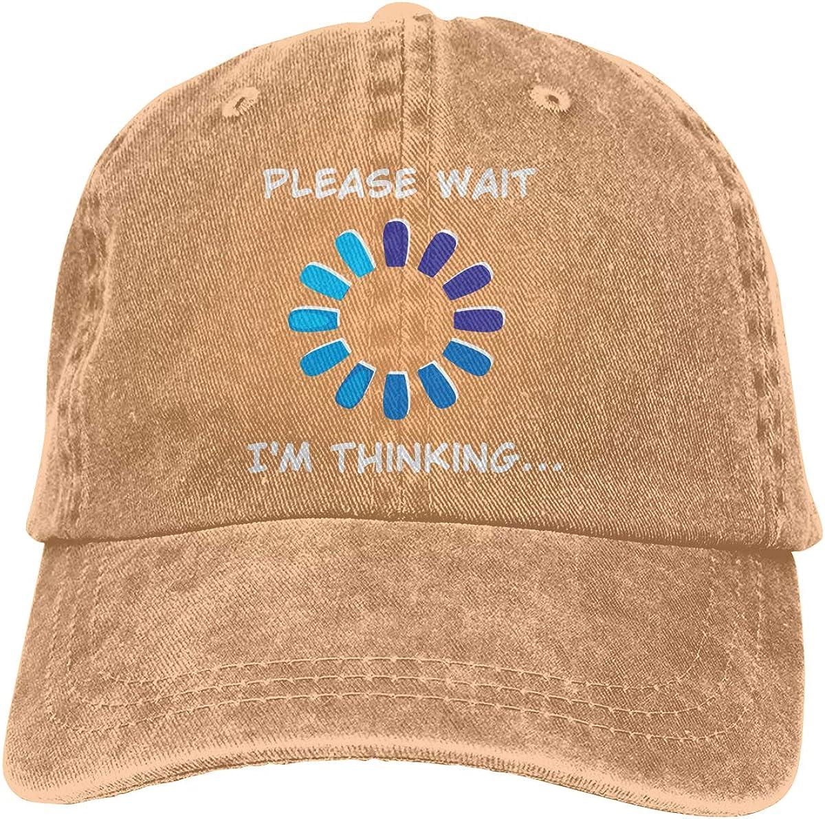 I Am Thinking Adult Custom Cowboy Outdoor Sports Hat Adjustable Baseball Cap