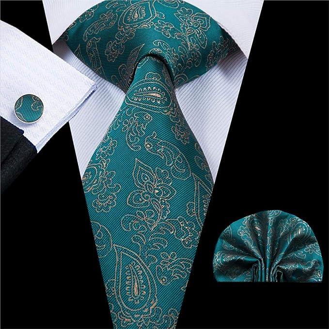 HYCZJH Estilos de Moda Corbatas de Seda para Hombres Conjunto de ...