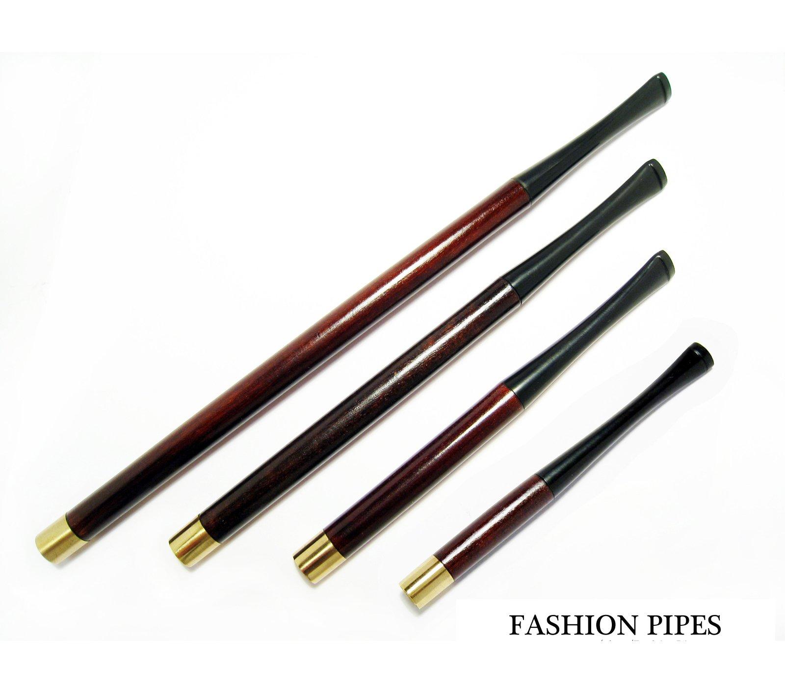 Vintage Cigarette Holders Set''Audrey Hepburn'' 8.7''/220mm-6.7''/170mm-5.1''/130mm-3.9''/90mm All Fit Regular. Brown Pear Wood Holders. The Best Price Offer in FPS
