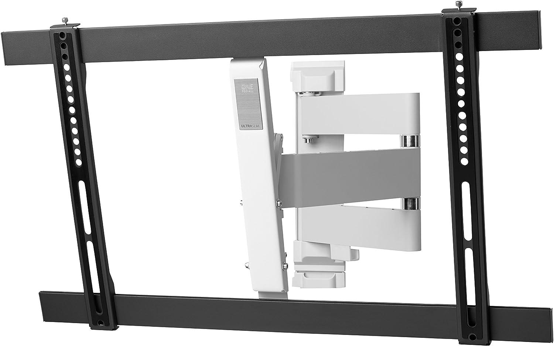 """One For All WM6651, Soporte de pared para TV de 32 a 84"""" Giratorio 180° Peso máx. 40kg, Para todo tipo de TVs LED, LCD, Plasma, gris/blanco: Amazon.es: Electrónica"""
