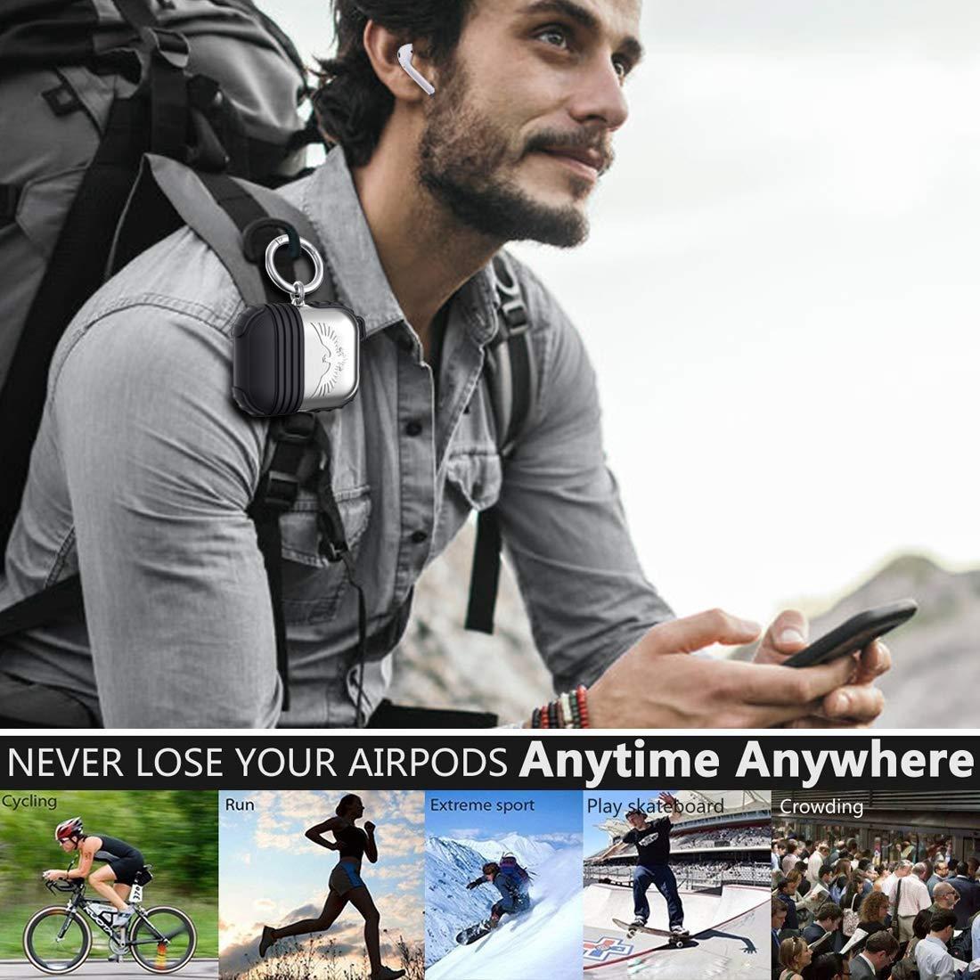 /Étui Protecteur Airpods Kppto Housse /Étanche pour Airpods Coque de Protection en Silicone Convenable /à Apple Airpods Antichoc Accessoire