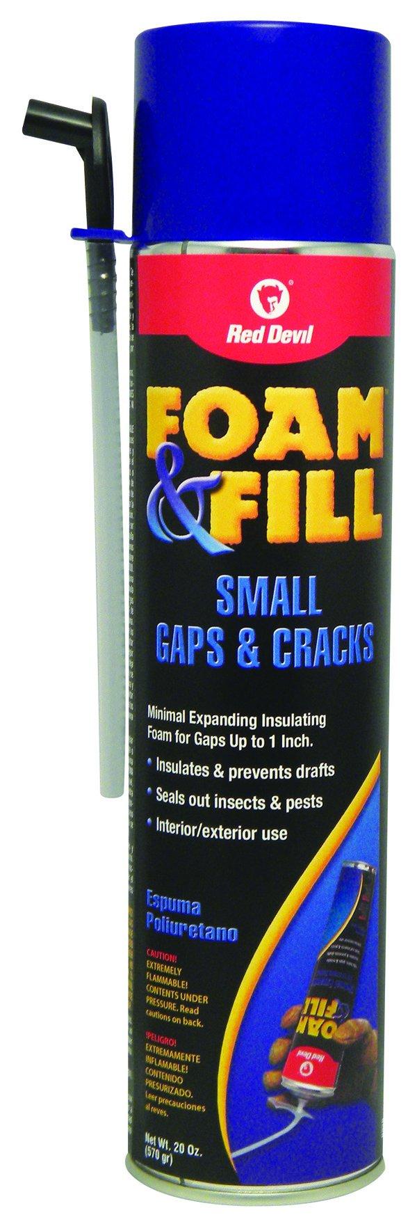 Red Devil 0920 Foam & Fill Small Gaps & Cracks Expanding Polyurethane Foam Sealant, 20-Ounce, Off White