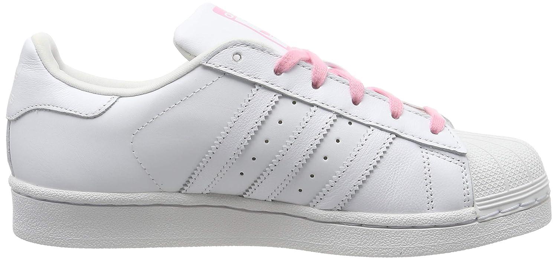 adidas Unisex Kinder Superstar Gymnastikschuhe, Weiß FTWR WhiteLight Pink, 37 13 EU