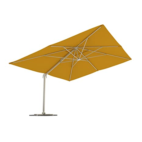 paramondo Sombrilla Parasol parapenda 4 x 3m (rectangular/amarillo) Estructura incl. Soporte